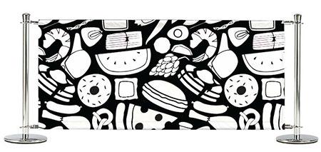 Cafe Barrier Sample Artwork For Cafe Banners