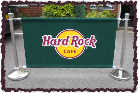 Hard Rock Cafe Barrier Sample