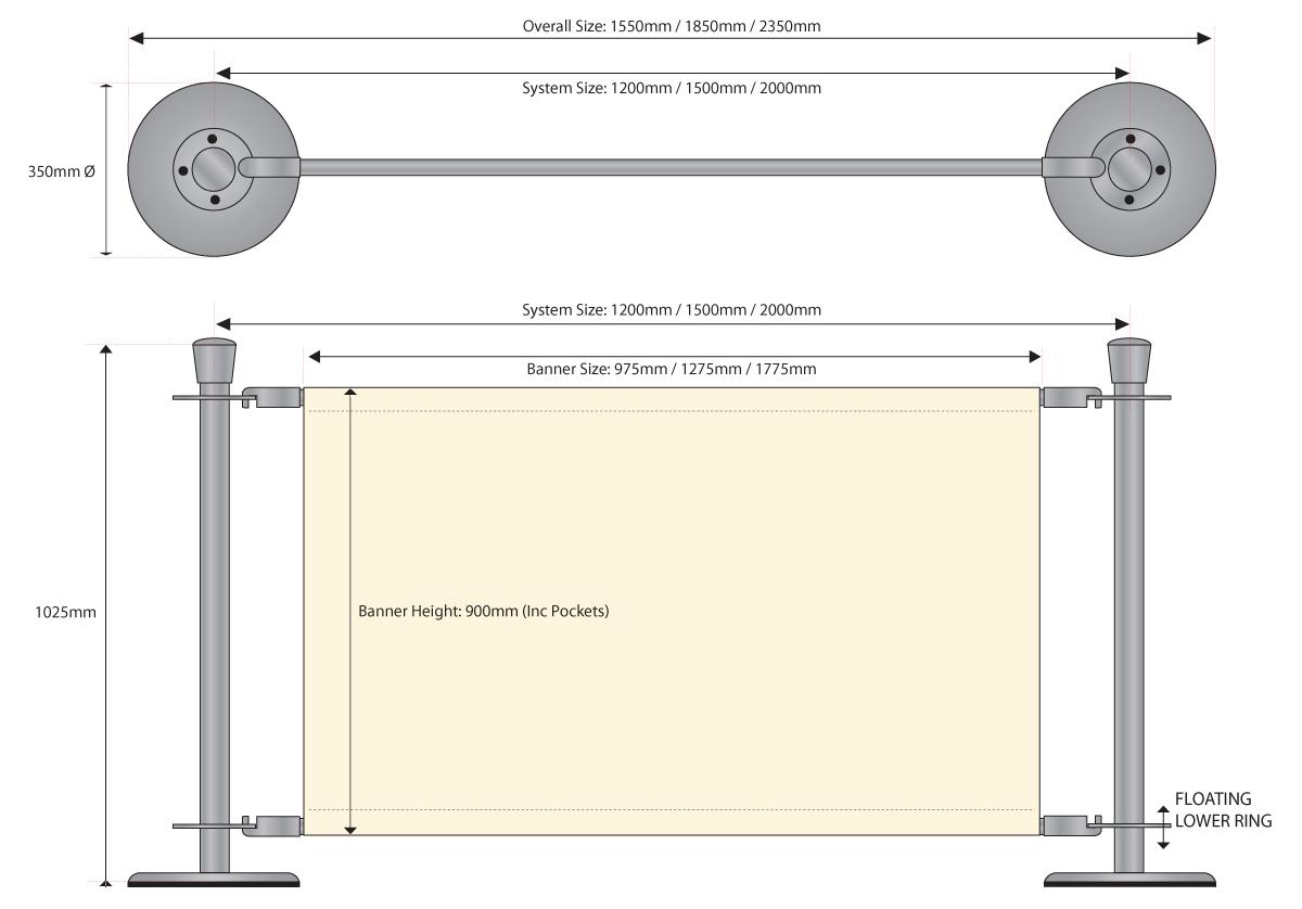 Premium Chrome Cafe Barrier Metalwork System