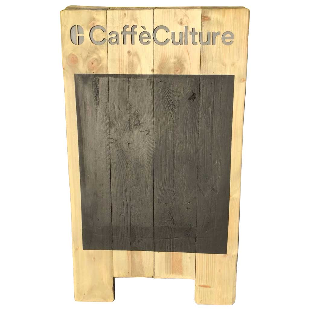 Rustic Wooden Chalkboard Pavement Sign