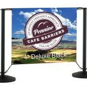 Cafe Barriers and Cafe Banners From Pennine Cafe Barriers - 4* Deluxe Chrome Cafe Barrier System 5