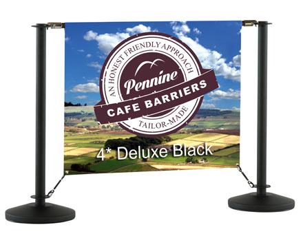 Cafe Barriers and Cafe Banners From Pennine Cafe Barriers - Cafe Barrier Deluxe Black Range 2