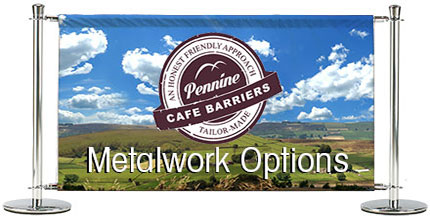 Cafe Barriers and Cafe Banners From Pennine Cafe Barriers -