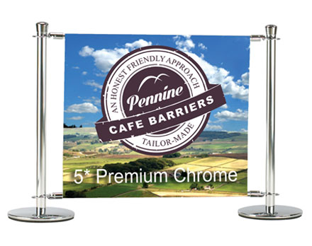Cafe Barriers and Cafe Banners From Pennine Cafe Barriers - 5* mCafe Barrier system