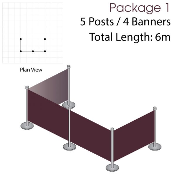 Cafe Barriers and Cafe Banners From Pennine Cafe Barriers - Cafe Barriers Premium Package 1 1