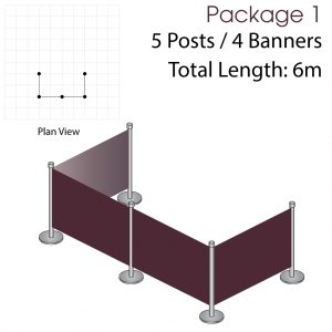 Cafe Barriers and Cafe Banners From Pennine Cafe Barriers Cafe Barrier Deluxe Bundle 1