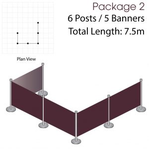 Cafe Barriers and Cafe Banners From Pennine Cafe Barriers - Cafe Barriers Premium Package 2