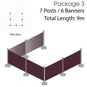Cafe Barriers and Cafe Banners From Pennine Cafe Barriers Cafe Barrier Deluxe Bundle 3