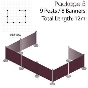 Cafe Barriers and Cafe Banners From Pennine Cafe Barriers - Cafe Barriers Premium Package 5