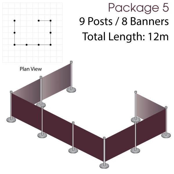 Cafe Barriers and Cafe Banners From Pennine Cafe Barriers Cafe Barrier Deluxe Bundle 5