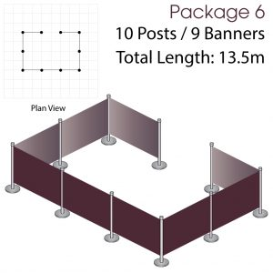 Cafe Barriers and Cafe Banners From Pennine Cafe Barriers - Cafe Barriers Premium Package 6