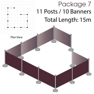 Cafe Barriers and Cafe Banners From Pennine Cafe Barriers Cafe Barrier Deluxe Bundle 7
