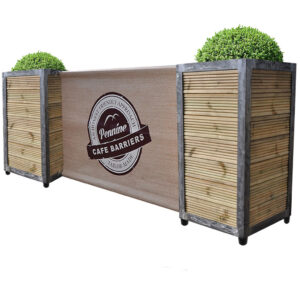 Cafe Barriers and Cafe Banners From Pennine Cafe Barriers Industrial Cafe Planter