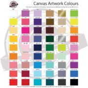 Canvas Cafe Banners Artwork Colours Available