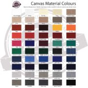Canvas Cafe Banners Material Colours Available
