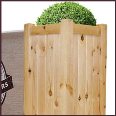 Cafe Barriers and Cafe Banners From Pennine Cafe Barriers Premium Wooden Cafe Planter
