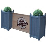 Cafe Barriers and Cafe Banners From Pennine Cafe Barriers Premium Wooden Cafe Planter 2